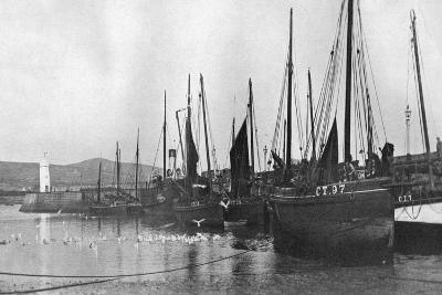 Fishing Boats in Port St Mary Harbour, Isle of Man, 1924-1926--Giclee Print