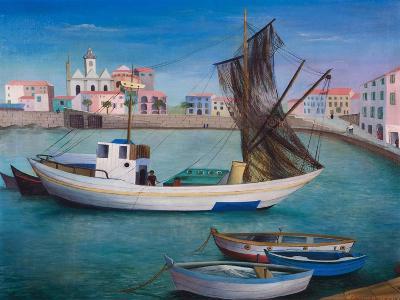 Fishing Boats in Porto San Stefano, 1976-Bettina Shaw-Lawrence-Giclee Print