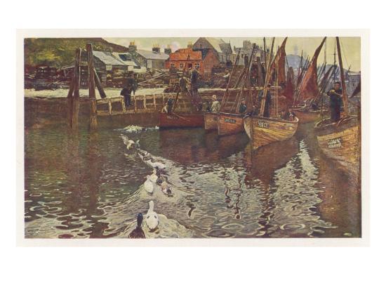Fishing Boats in Tarbert Harbour, Loch Fyne--Giclee Print