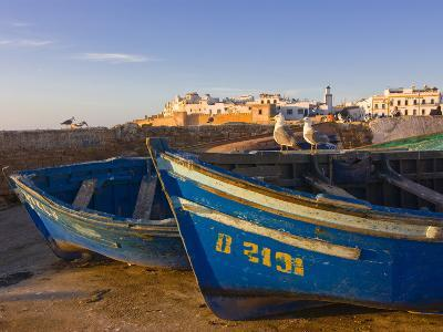 Fishing Boats in the Coastal City of Essaouira, Morocco, North Africa, Africa--Photographic Print