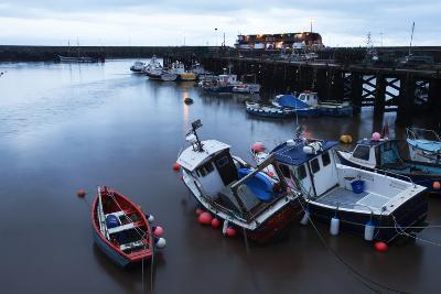 Fishing Boats in the Harbour at Bridlington, East Riding of Yorkshire, Yorkshire, England, UK-Mark Sunderland-Photographic Print