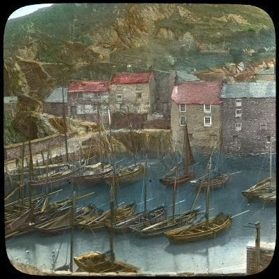 Fishing Boats in the Harbour, Polperro, Cornwall, Late 19th or Early 20th Century--Giclee Print