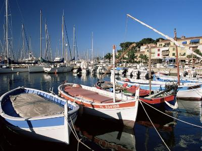 Fishing Boats in the Harbour, Sanary-Sur-Mer, Var, Cote d'Azur, Provence, France-Ruth Tomlinson-Photographic Print