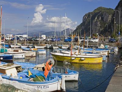 Fishing Boats in the Port of Marina Grande, Capri Island, Bay of Naples, Campania, Italy, Europe-Richard Cummins-Photographic Print