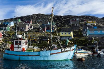 Fishing Boats in the Quiet Harbor of a Village on an Arctic Island-Jason Edwards-Photographic Print