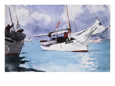 Fishing Boats, Key West-Winslow Homer-Giclee Print