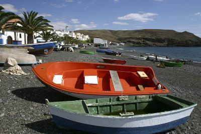 Fishing Boats, La Lajita, Fuerteventura, Canary Islands-Peter Thompson-Photographic Print