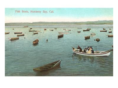 Fishing Boats, Monterey Bay, California--Art Print