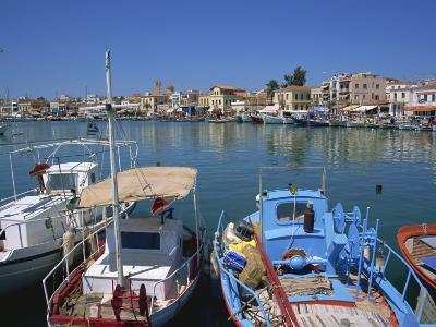 Fishing Boats Moored in Harbour, Aegina Town, Aegina, Saronic Islands, Greek Islands, Greece-Lightfoot Jeremy-Photographic Print
