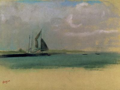 Fishing Boats Moored in the Harbour, C.1869-Edgar Degas-Giclee Print