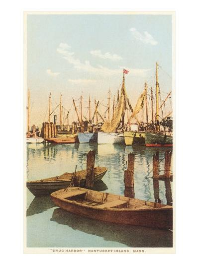 Fishing Boats, Nantucket, Massachusetts--Art Print