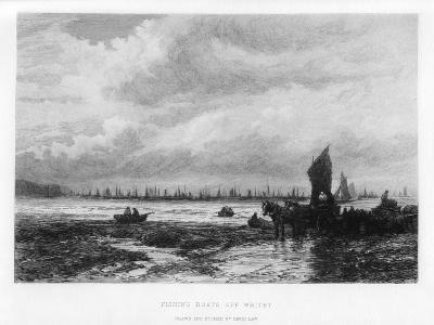Fishing Boats Off Whitby, North Yorkshire, 19th Century-David Law-Giclee Print