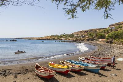 Fishing Boats on Beach, Cidade Velha, Santiago Island, Cape Verde-Peter Adams-Photographic Print
