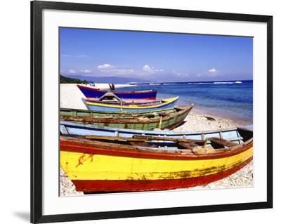 Fishing Boats on Beach-Greg Johnston-Framed Photographic Print
