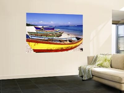 Fishing Boats on Beach-Greg Johnston-Wall Mural