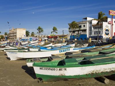 Fishing Boats on Playa Norte, Mazatlan, Sinaloa State, Mexico, North America-Richard Cummins-Photographic Print