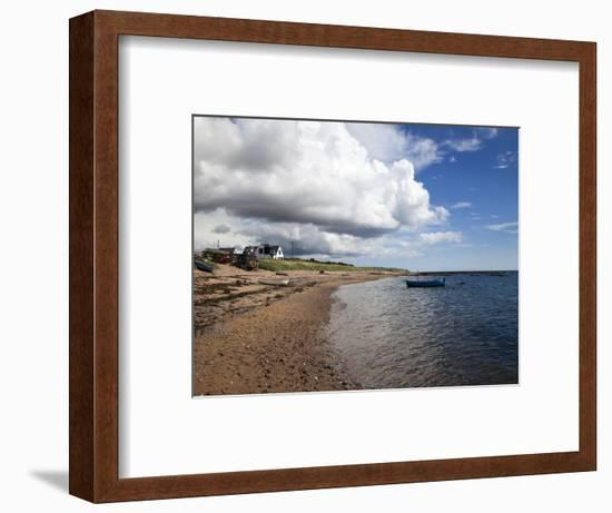 Fishing Boats on the Beach at Carnoustie, Angus, Scotland, United Kingdom, Europe-Mark Sunderland-Framed Photographic Print