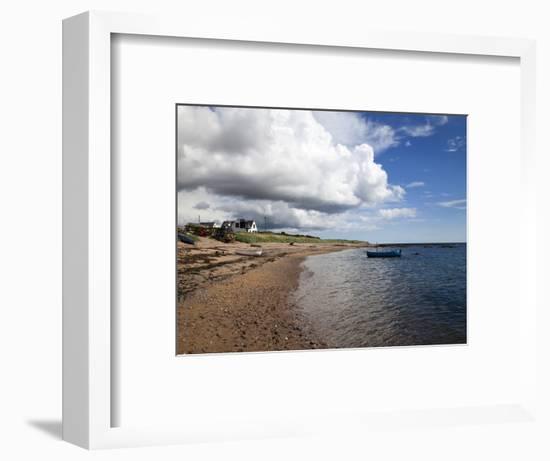 Fishing Boats on the Beach at Carnoustie, Angus, Scotland, United Kingdom, Europe-Mark Sunderland-Framed Photographic Print