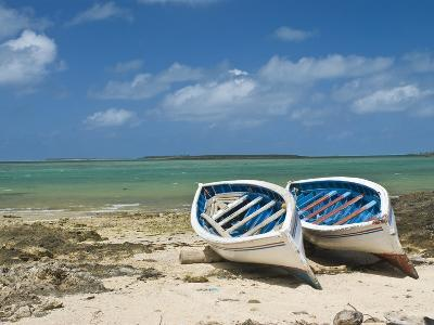 Fishing Boats on the Island of Rodrigues, Mauritius, Indian Ocean, Africa--Photographic Print