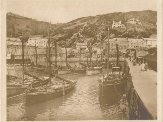 'Fishing Boats - Polperro', 1927-Unknown-Photographic Print