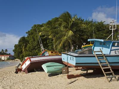 Fishing Boats, Port St. Charles, Speightstown, Barbados, West Indies, Caribbean, Central America-Richard Cummins-Photographic Print