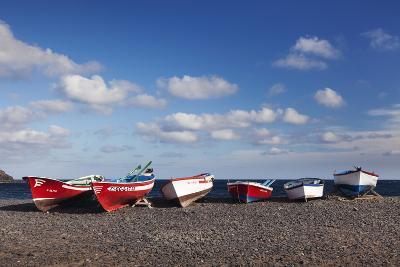 Fishing Boats, Pozo Negro, Fuerteventura, Canary Islands, Spain, Atlantic, Europe-Markus Lange-Photographic Print