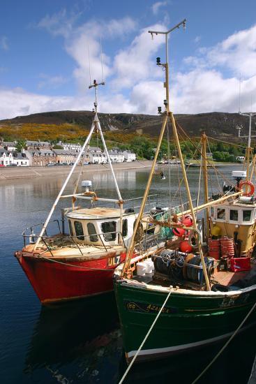 Fishing Boats, Ullapool Harbour, Highland, Scotland-Peter Thompson-Photographic Print