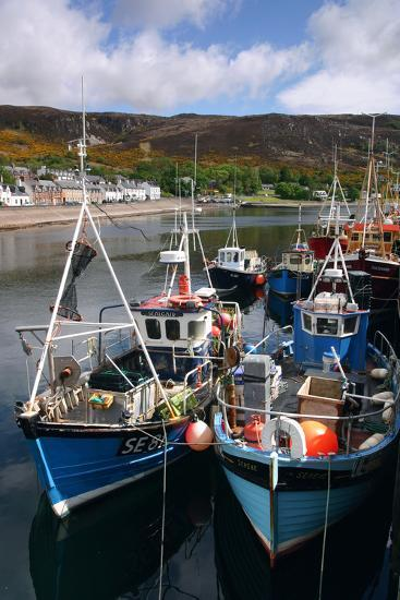 Fishing Boats, Ullapool Harbour, Highland, Scotland-Peter Thompson-Photographic Print