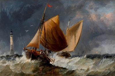 Fishing Craft Off the Eddystone Lighthouse-Richard Beavis-Giclee Print