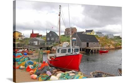 Fishing Equipment Can. Village--Stretched Canvas Print