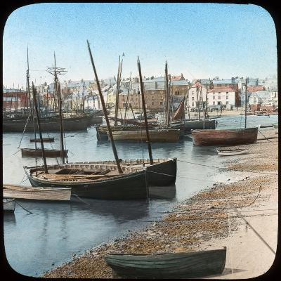 Fishing Fleet, St Ives, Cornwall, Late 19th or Early 20th Century--Giclee Print