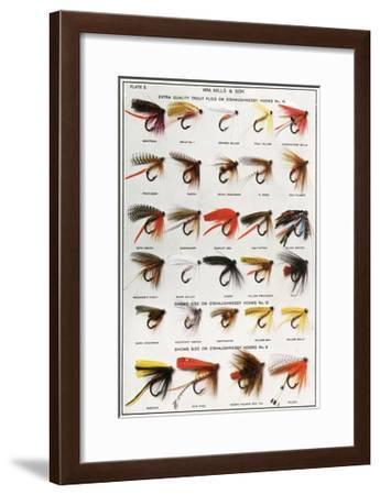 Fishing Flies (American)--Framed Giclee Print
