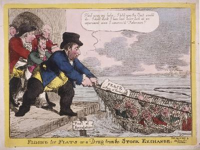 Fishing for Flats or a Drag from the Stock Exchange, 1806-C Williams-Giclee Print