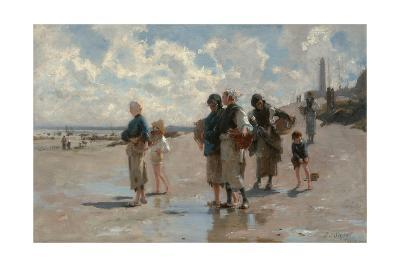 Fishing for Oysters at Cancale-John Singer Sargent-Giclee Print