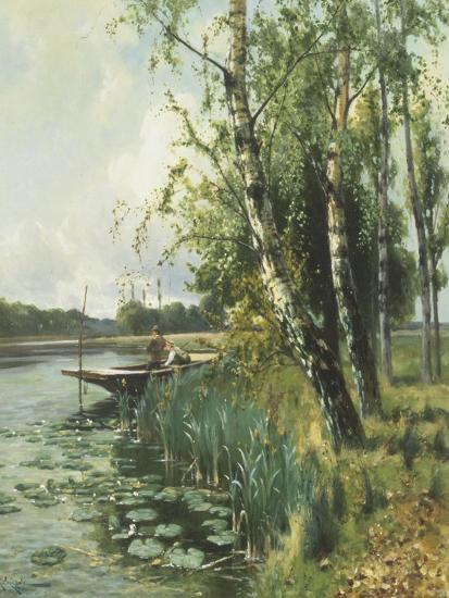Fishing from a Punt-Arthur Walker Redgate-Giclee Print