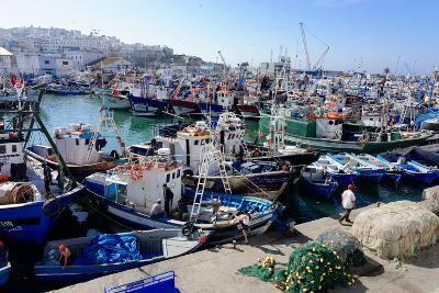Fishing Harbour, Tangier, Morocco, North Africa, Africa-Mick Baines & Maren Reichelt-Photographic Print