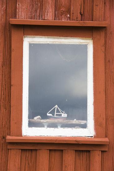 Fishing Hut, Detail, Window, Ship Model-Frank Lukasseck-Photographic Print