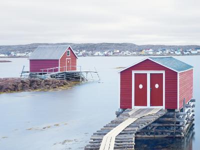 Fishing Huts, Fogo Island, Newfoundland, Canada, North America-Craig Easton-Photographic Print