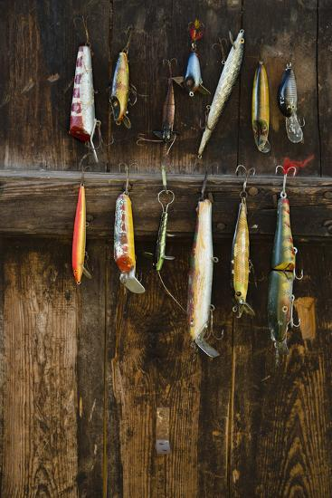 Fishing Lure Hanging on Wall, Sandham, Sweden- BMJ-Photographic Print