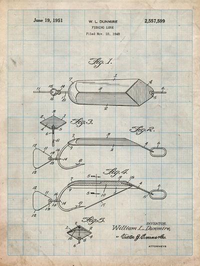 Fishing Lure Patent-Cole Borders-Art Print