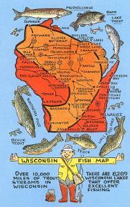 Fishing Map of Wisconsin