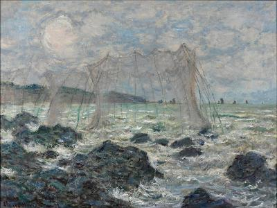 Fishing Nets at Pourville, 1882-Claude Monet-Giclee Print