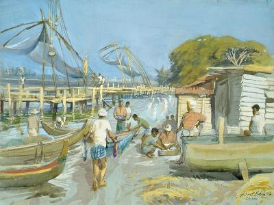 Fishing Nets Near Cochin, 1994-Tim Scott Bolton-Giclee Print