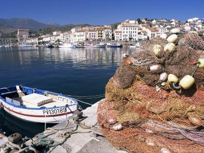 Fishing Nets, Port Vendres, Catalan Coast, Roussillon, France-Ken Gillham-Photographic Print