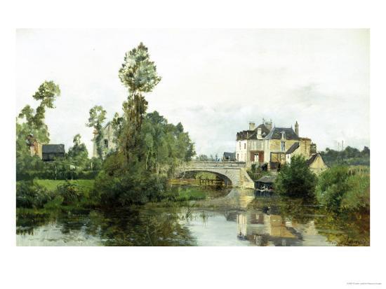 Fishing on the Lake-Charles Leslie-Giclee Print