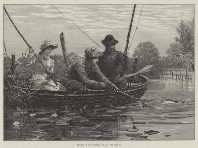 Fishing on the Norfolk Broads-Charles Joseph Staniland-Giclee Print