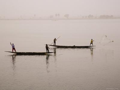 Fishing on the River Niger, Niger Inland Delta, Segou Region, Mali, West Africa, Africa-Gavin Hellier-Photographic Print