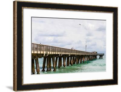 Fishing Pier at Pompano Beach, Broward County, Florida, USA--Framed Photographic Print