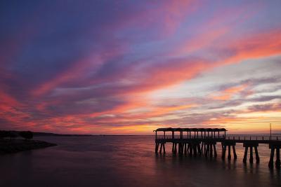 Fishing Pier at Sunset, Jekyll Island, Georgia, USA-Joanne Wells-Photographic Print
