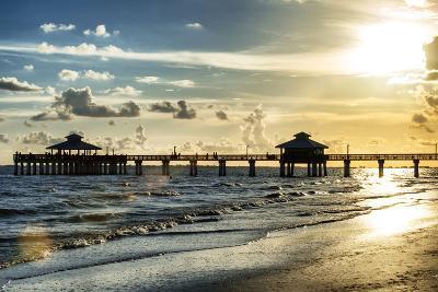 Fishing Pier Fort Myers Beach at Sunset - Florida-Philippe Hugonnard-Photographic Print